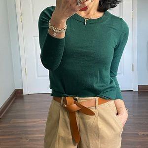 J Crew Green Merino Wool Tippi Sweater size XS
